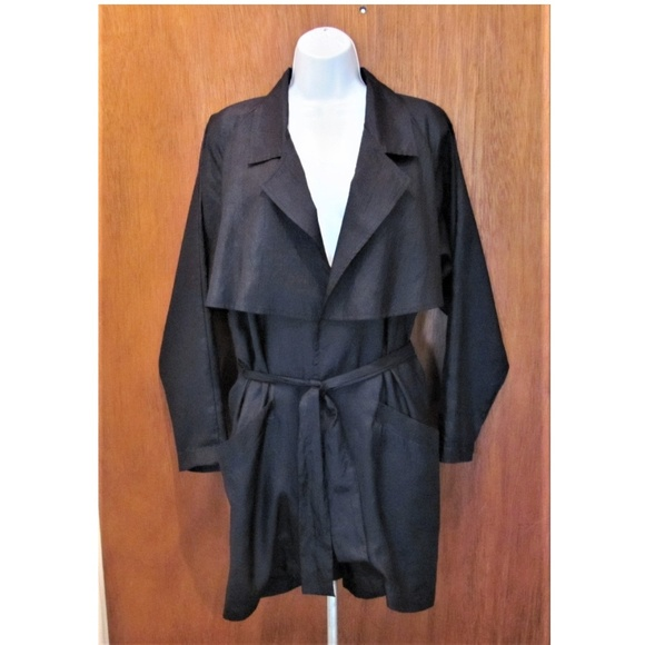 Stewart Jackets & Blazers - Lightweight trench like, jacket, black , with belt